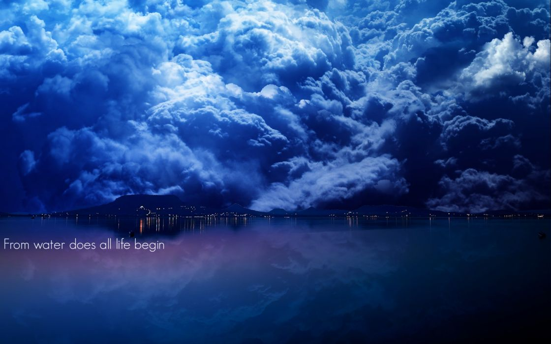 Water clouds life magazine wallpaper