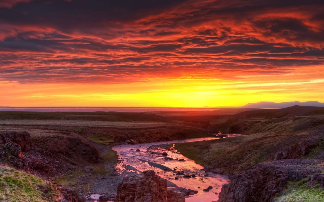 Clouds landscapes nature sun dawn wallpaper