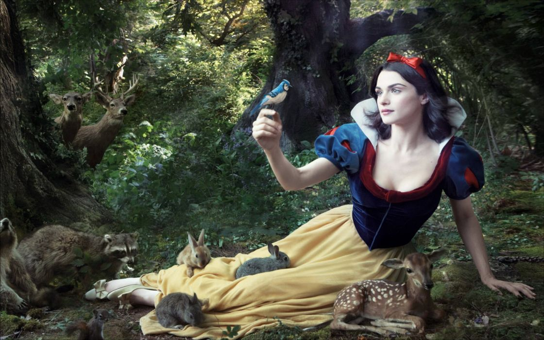 Women rachel weisz snow white wallpaper