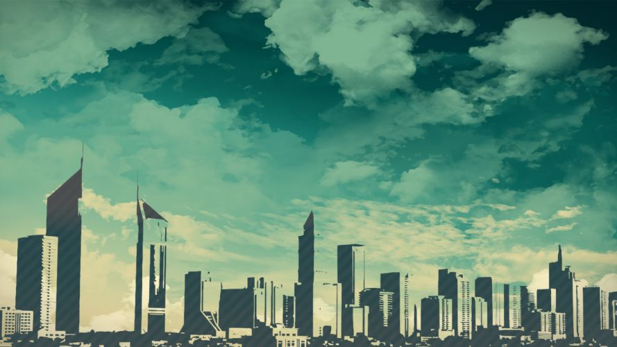 Skylines skyscrapers skyscapes wallpaper