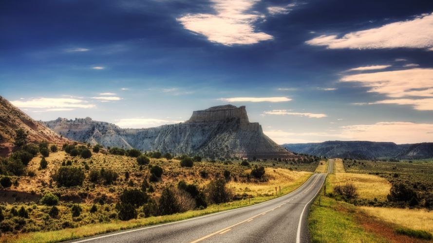 Mountains roads wallpaper
