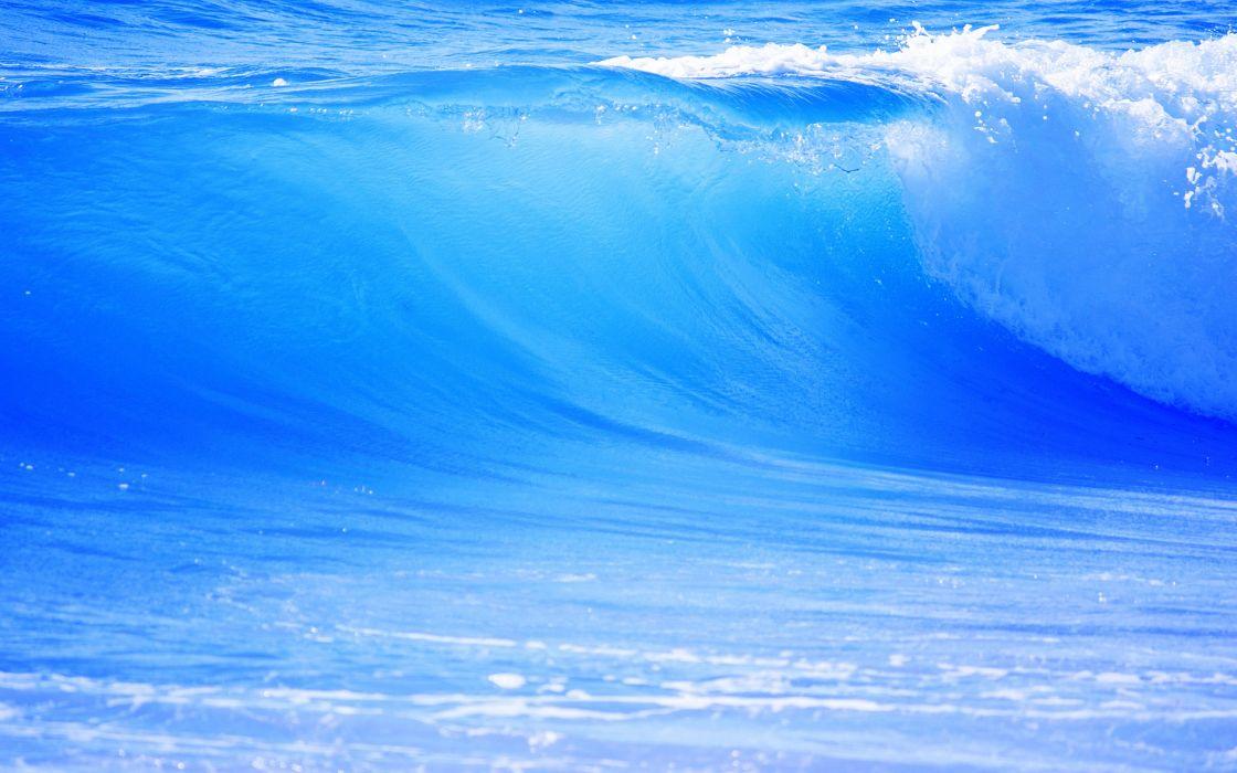 Water nature waves wallpaper