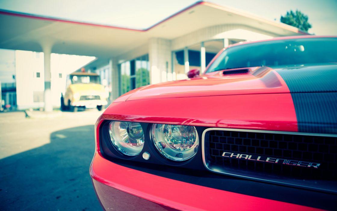 Cars dodge dodge challenger challenger headlights automobiles wallpaper