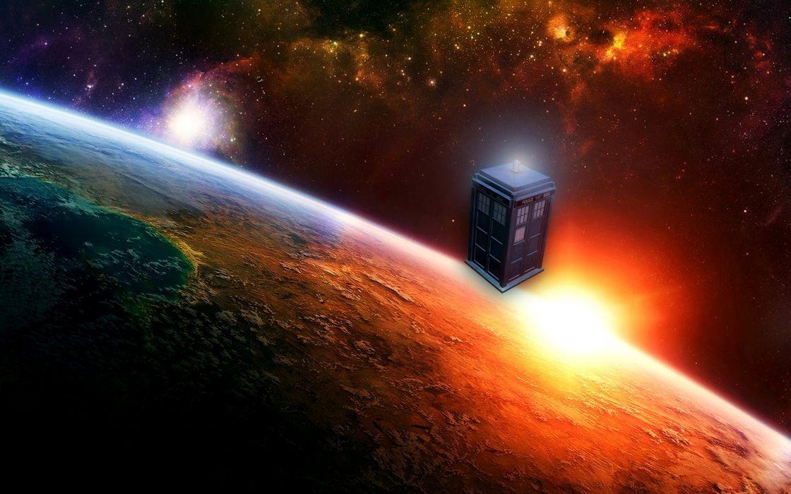 Tardis doctor who space art wallpaper