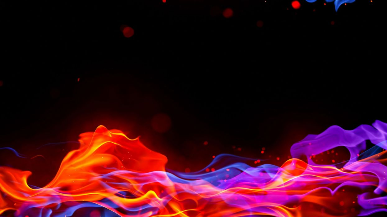 Abstract flames multicolor wallpaper