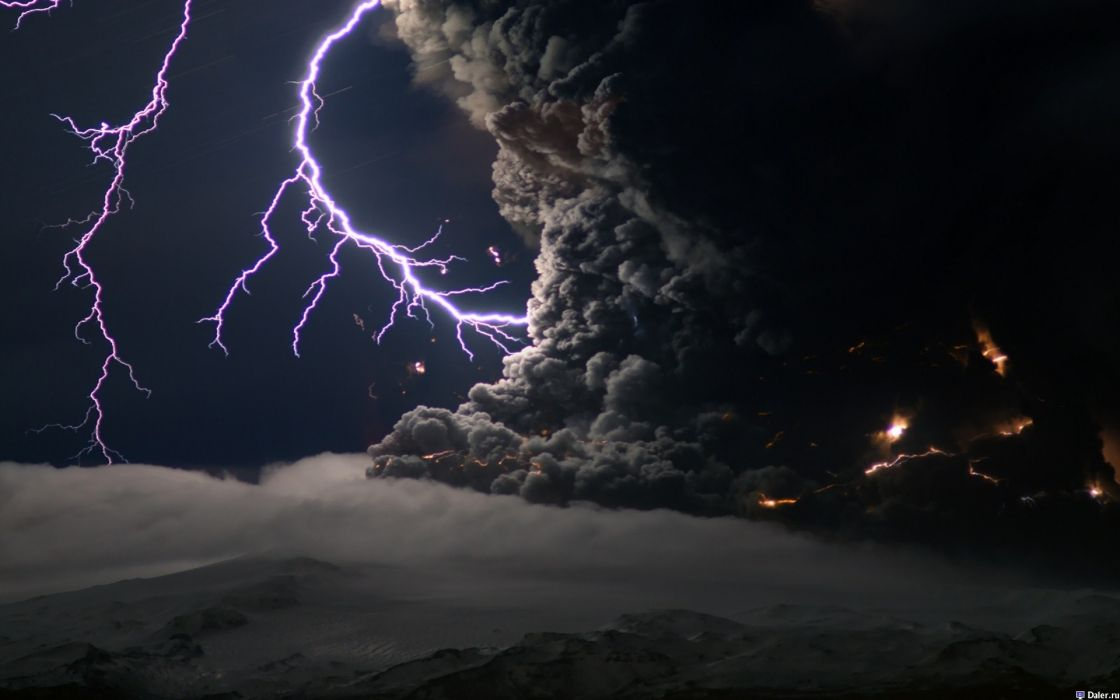 Nature lightning apocalyptic wallpaper