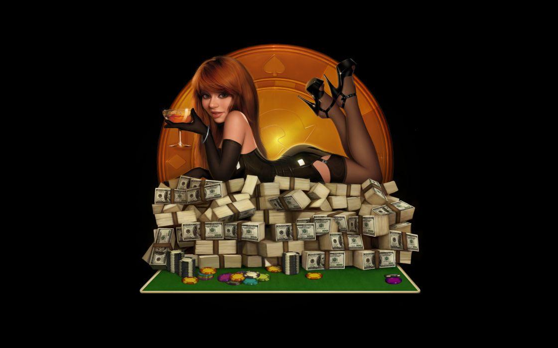 Pinups poker wallpaper