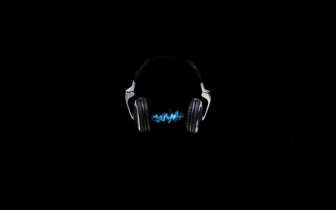Headphones simplistic photomanipulations wallpaper