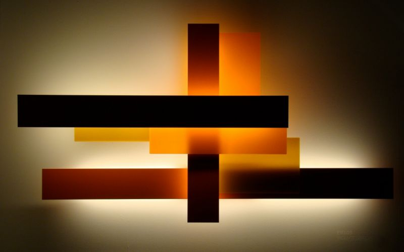 Abstract orange design squares colors wallpaper