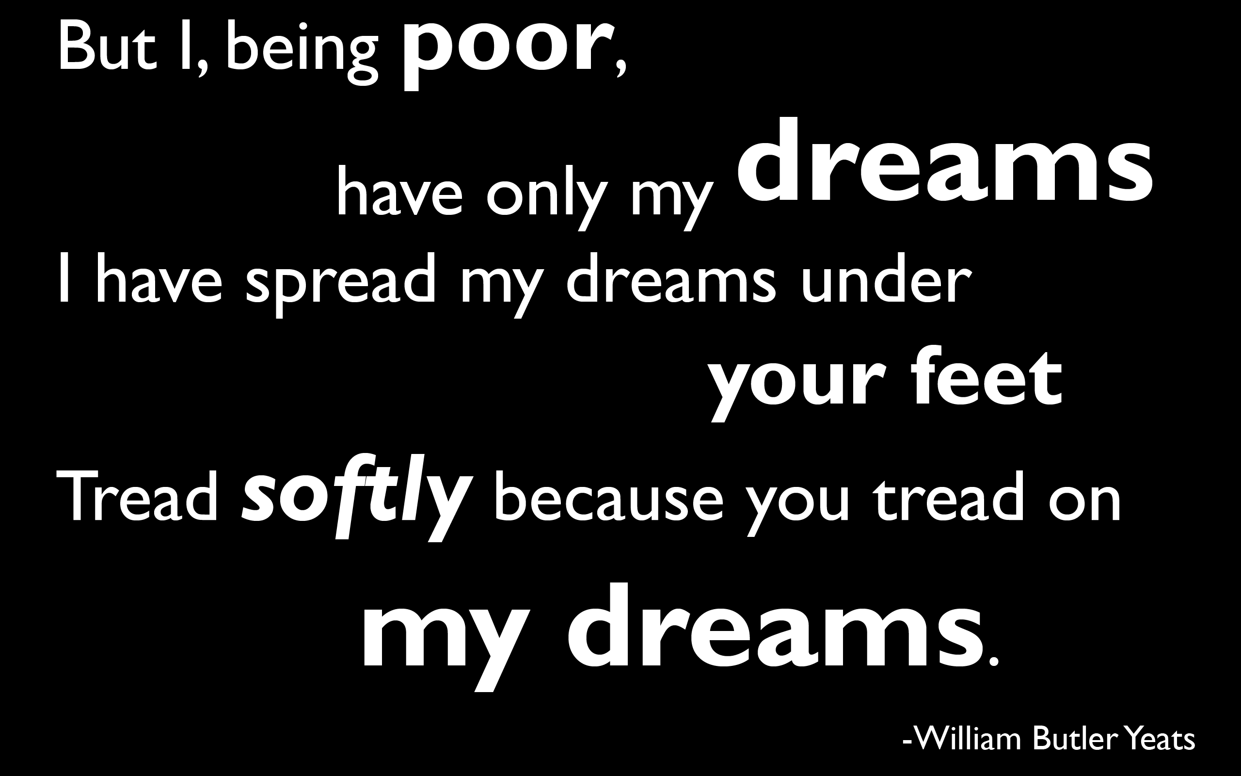 Quotes Poem Dreams William Butler Yeats Wallpaper