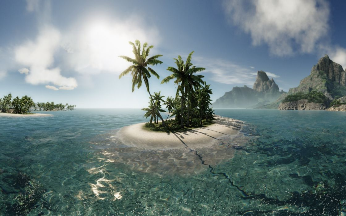 Landscapes crysis islands wallpaper