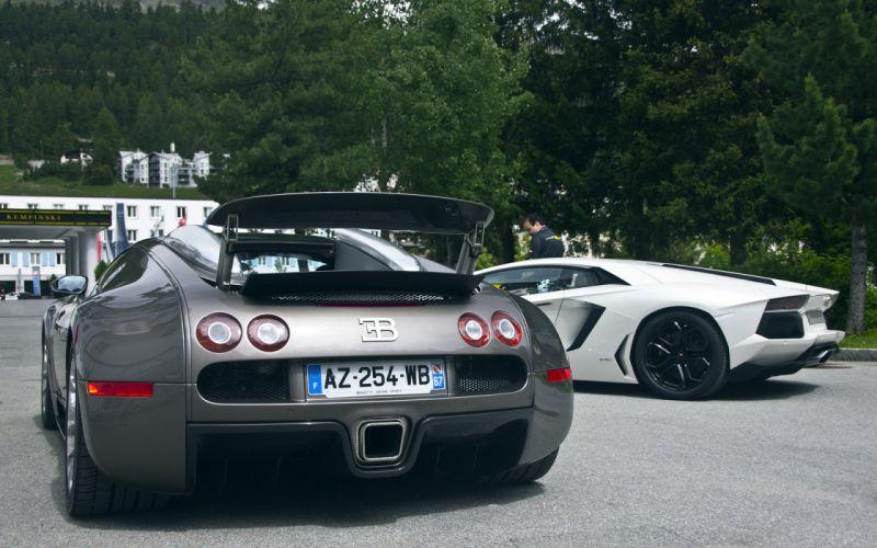 Cars lamborghini aventador bugatti veyron super sport wallpaper
