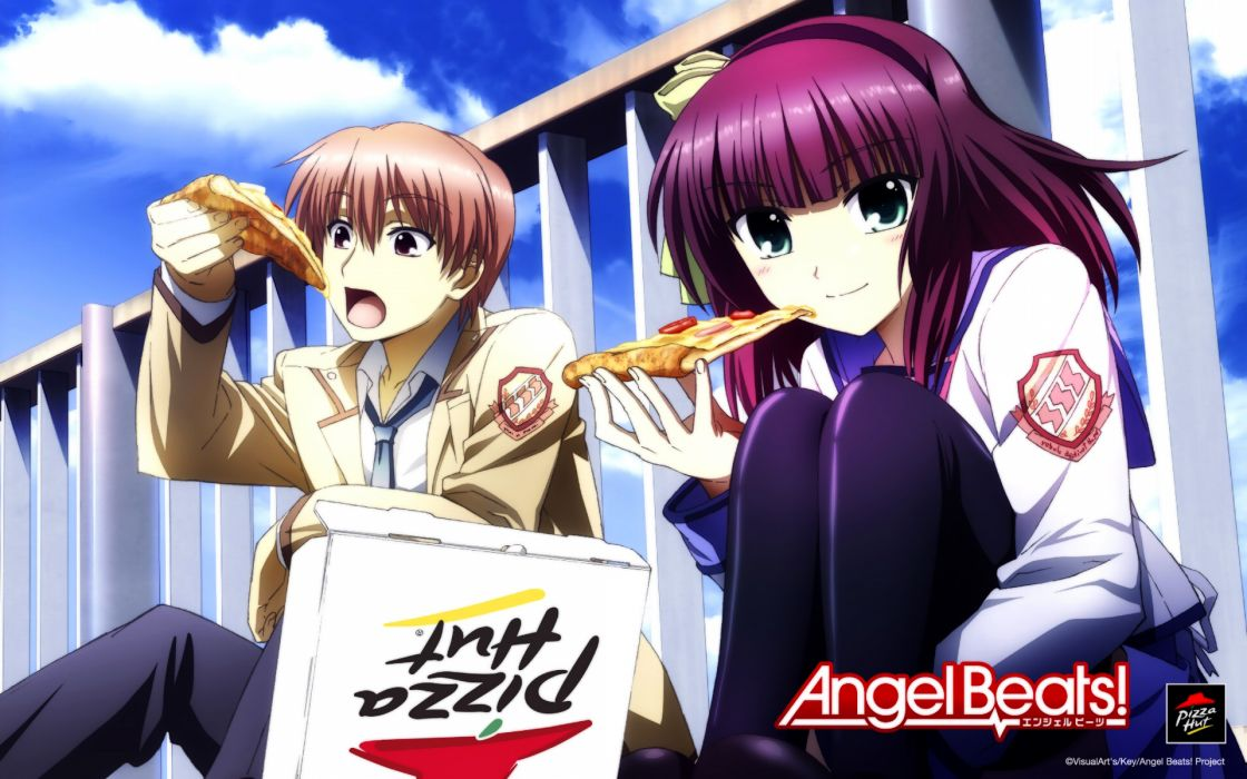 Angel beats nakamura yuri yuzuru otonashi wallpaper