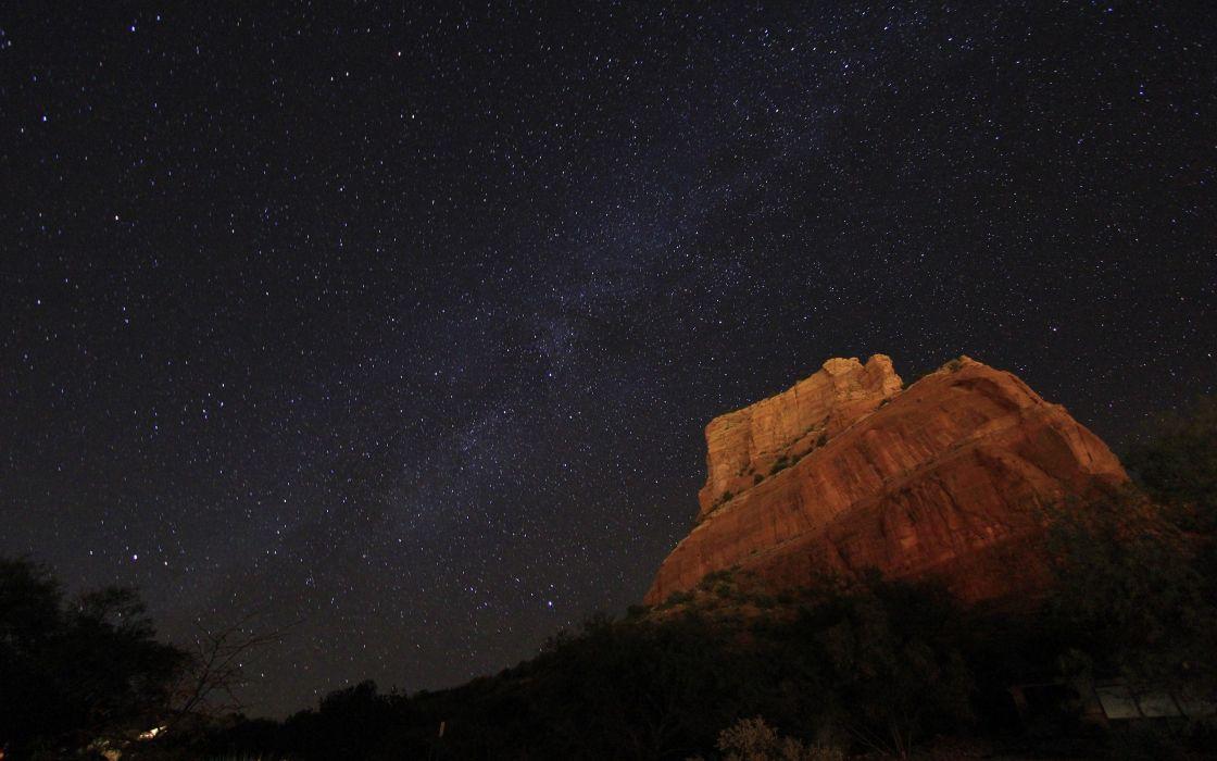 Night stars astronomy arizona skyscapes wallpaper