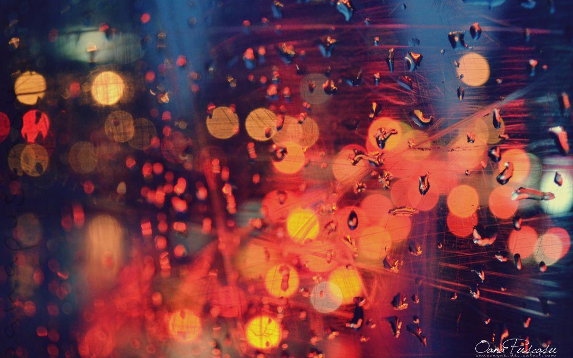 Lights water drops condensation wallpaper