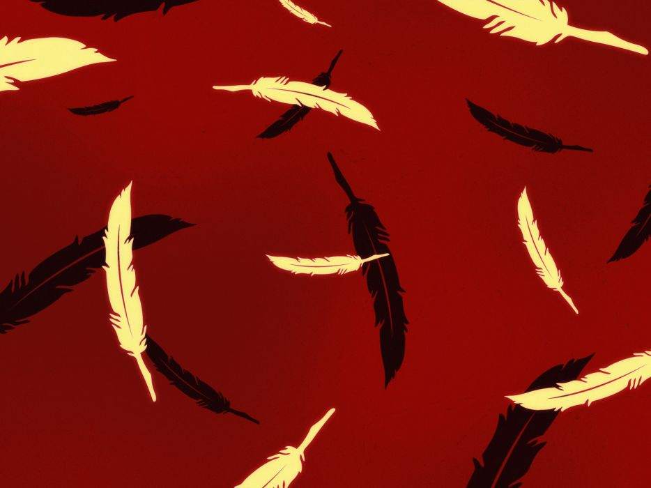 Pattern digital vector surface feathers wallpaper