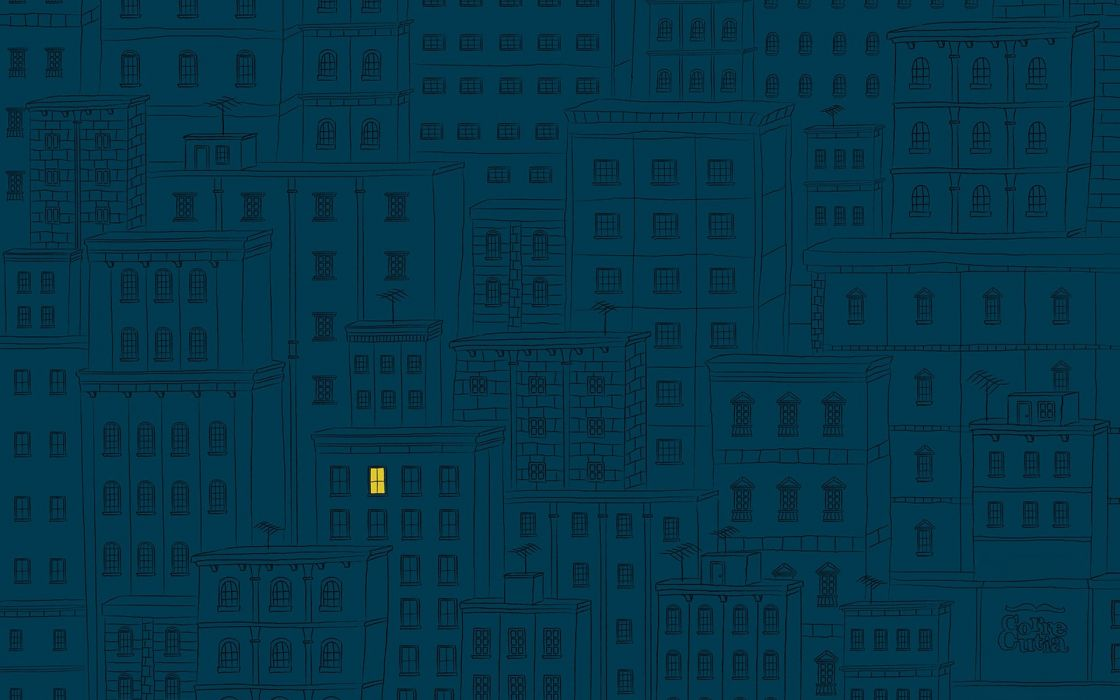 Minimalistic cityscapes night buildings drawings wallpaper