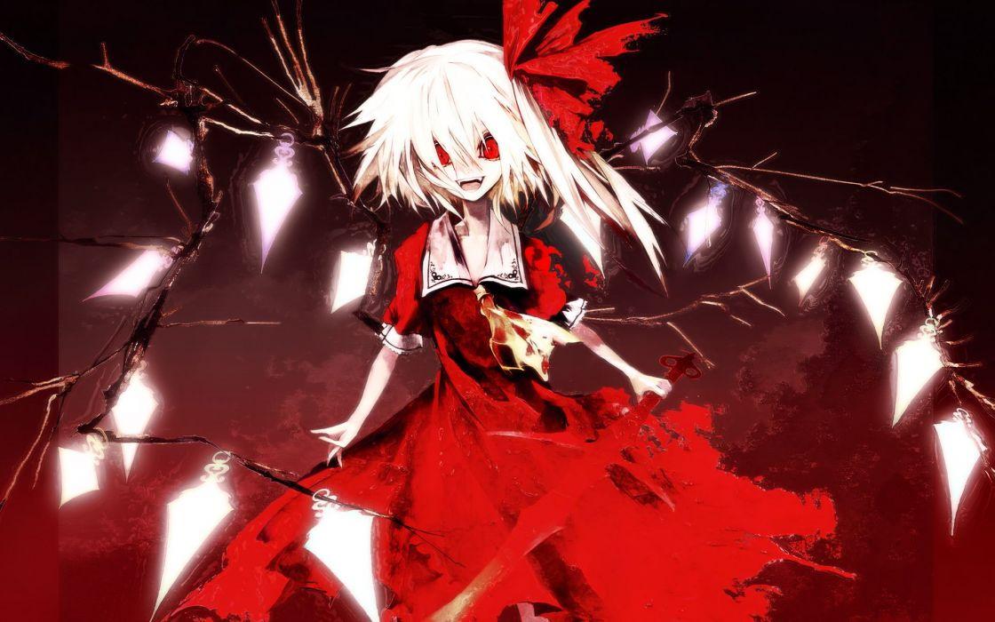 Touhou vampires flandre scarlet koumajou densetsu banpai akira wallpaper