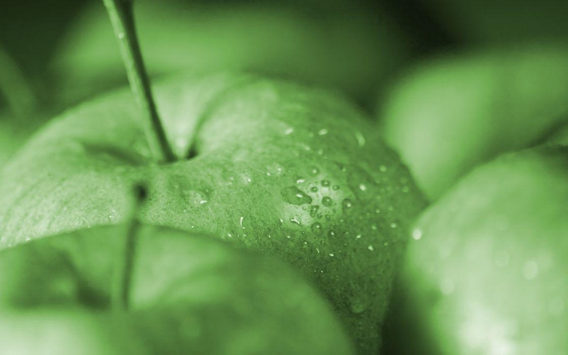 Fruits water drops macro apples wallpaper