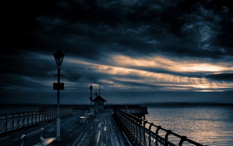 Clouds landscapes nature dock skyscapes wallpaper