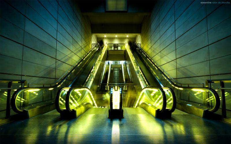 Architecture stairways wallpaper