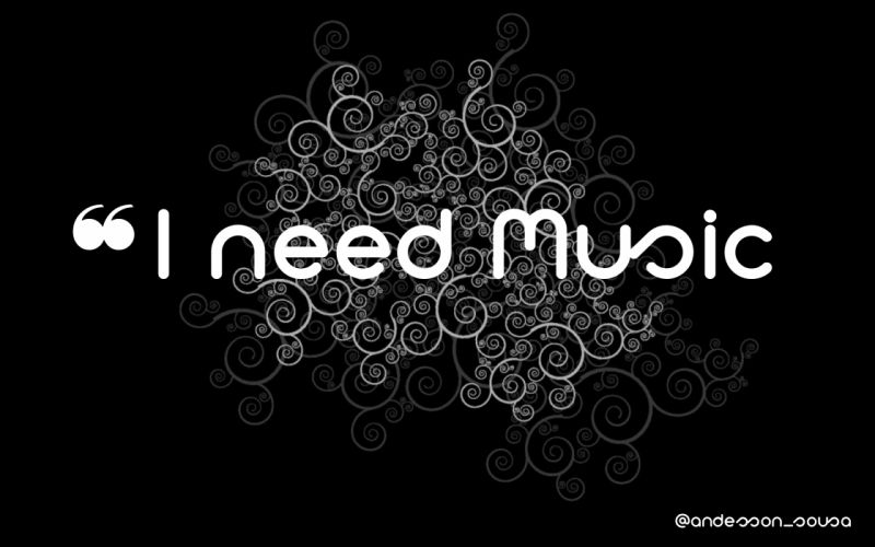 Music typography wallpaper