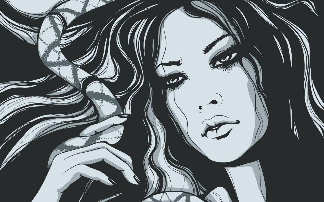 Women artwork drawings wallpaper