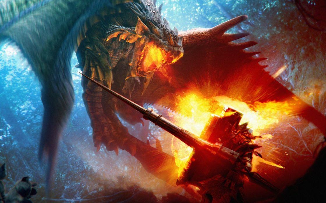 Paintings dragons wallpaper