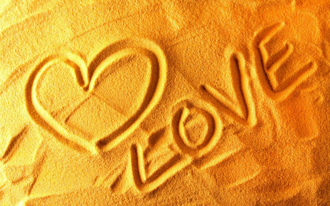 Love sand textures hearts wallpaper