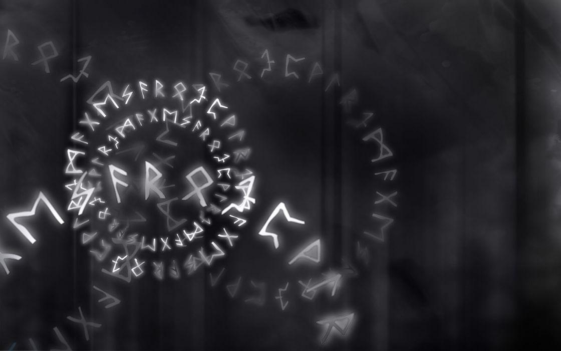 Runes futhark wallpaper