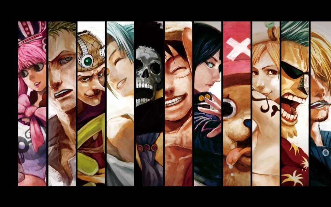 Nico robin roronoa zoro franky tony tony chopper brook (one piece) monkey d luffy nami (one piece) wallpaper