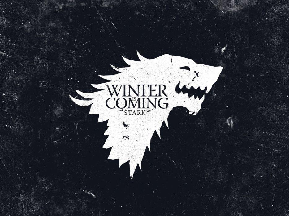Black crest game of thrones direwolf house stark wolves wallpaper