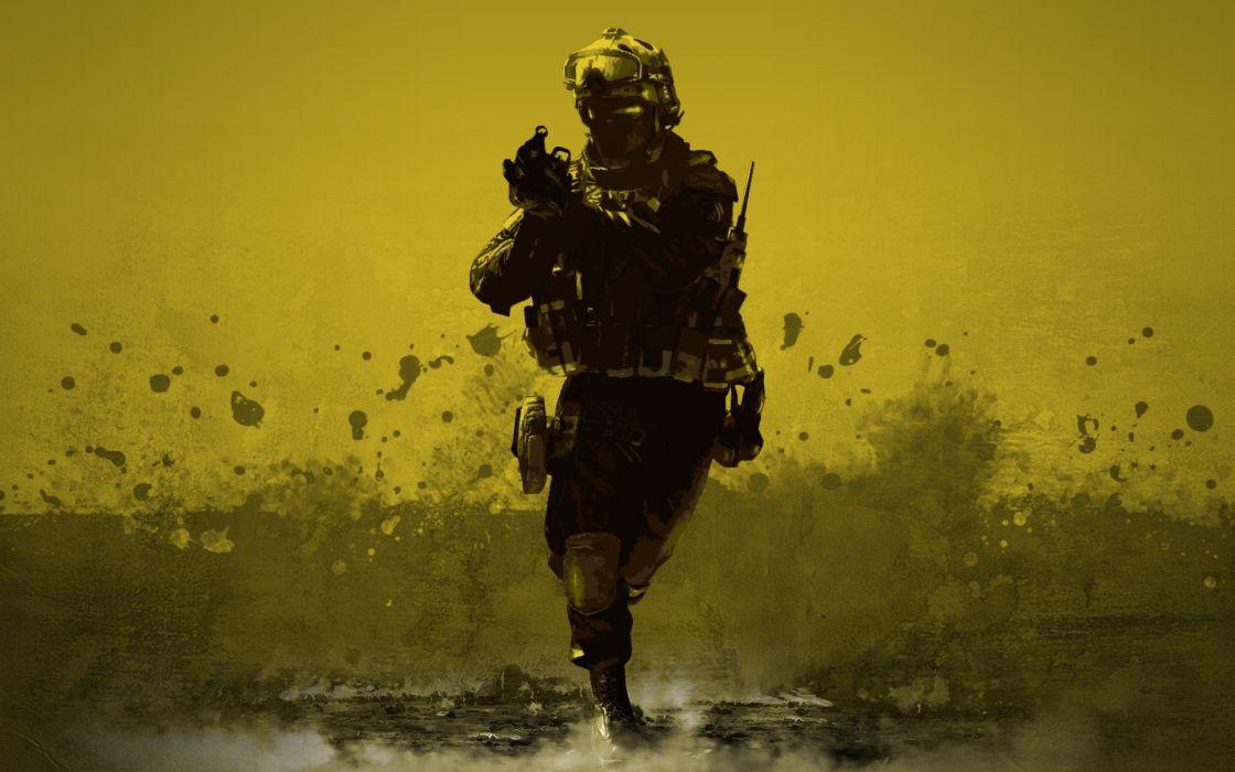 Soldiers video games military desert desert combat wallpaper