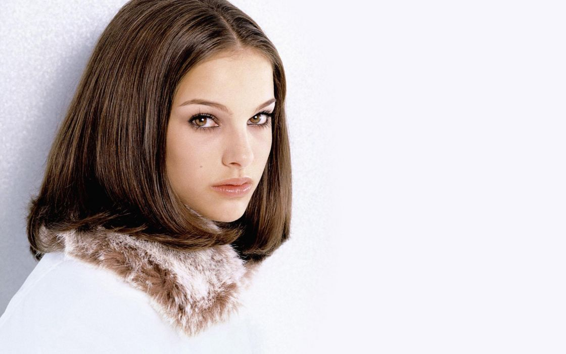 Women actress natalie portman white background wallpaper