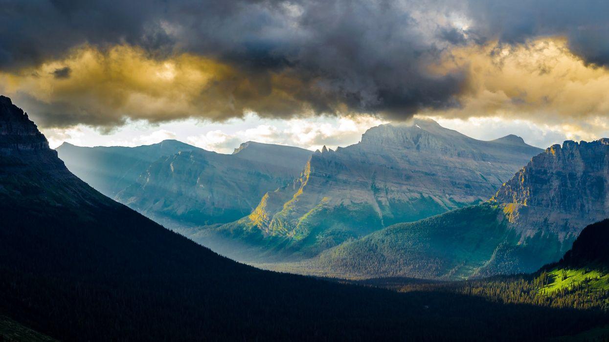 Mountains landscapes nature california glacier glacier national park wallpaper