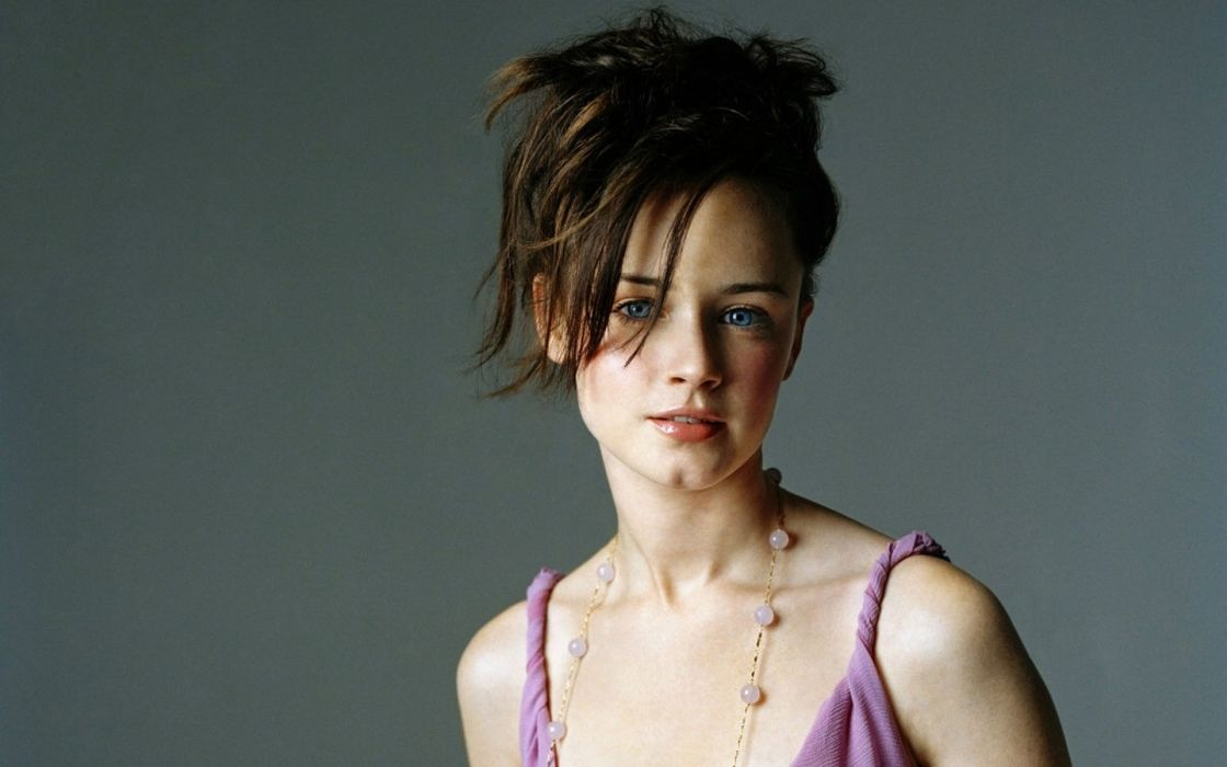 Brunettes women alexis bledel models faces wallpaper