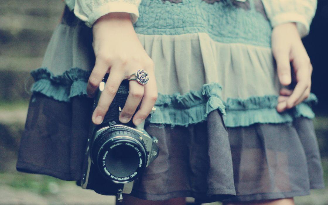 Women photo camera wallpaper