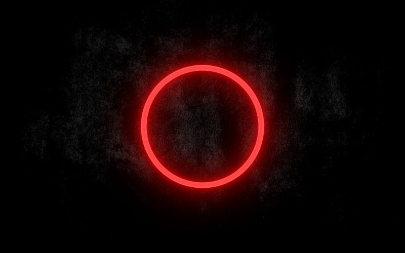 Minimalistic dark circles glow wallpaper