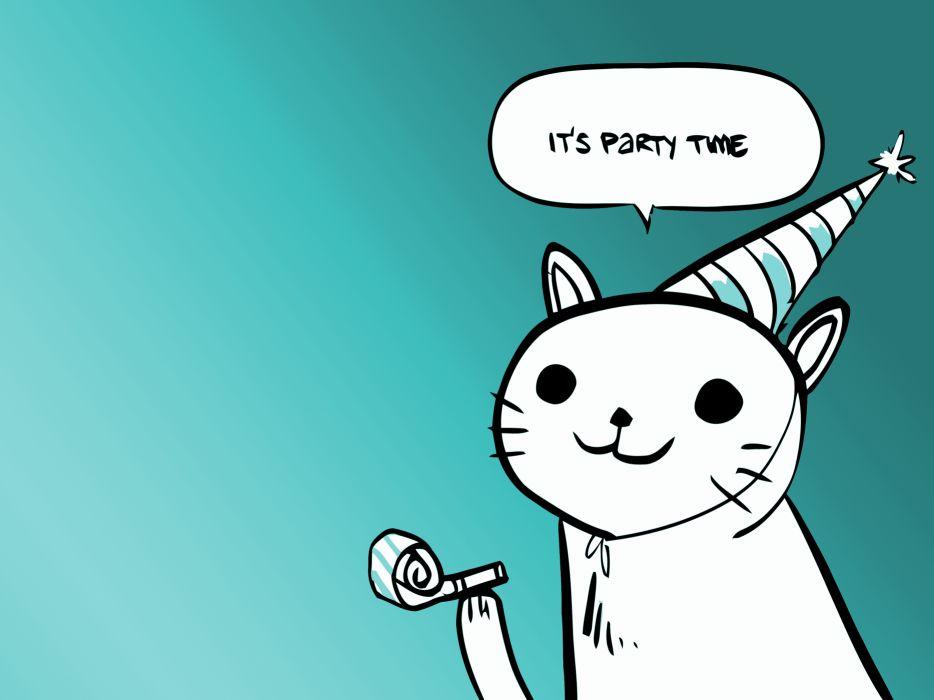 Party cat wallpaper