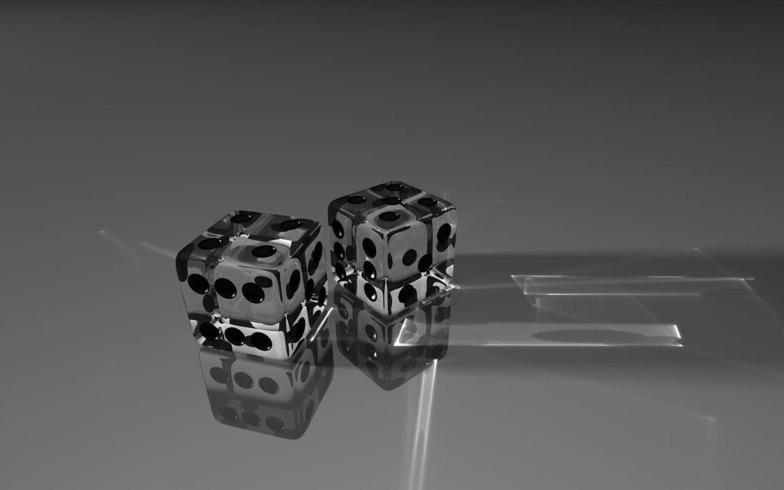 Glass dice glass art wallpaper