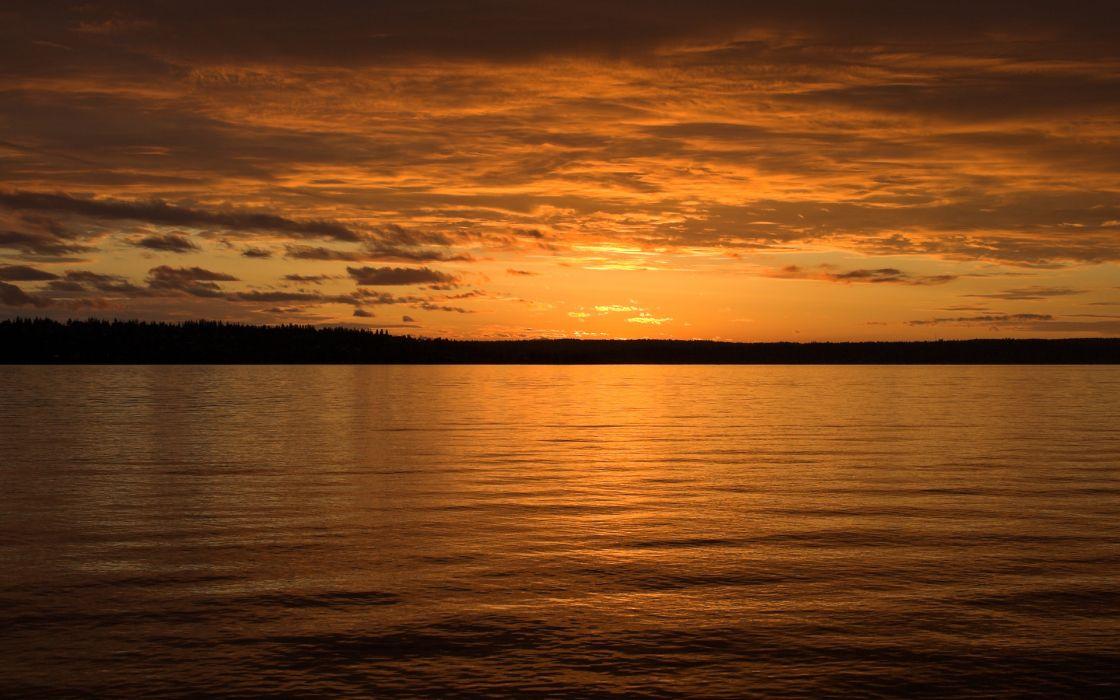 Sunset clouds landscapes wallpaper