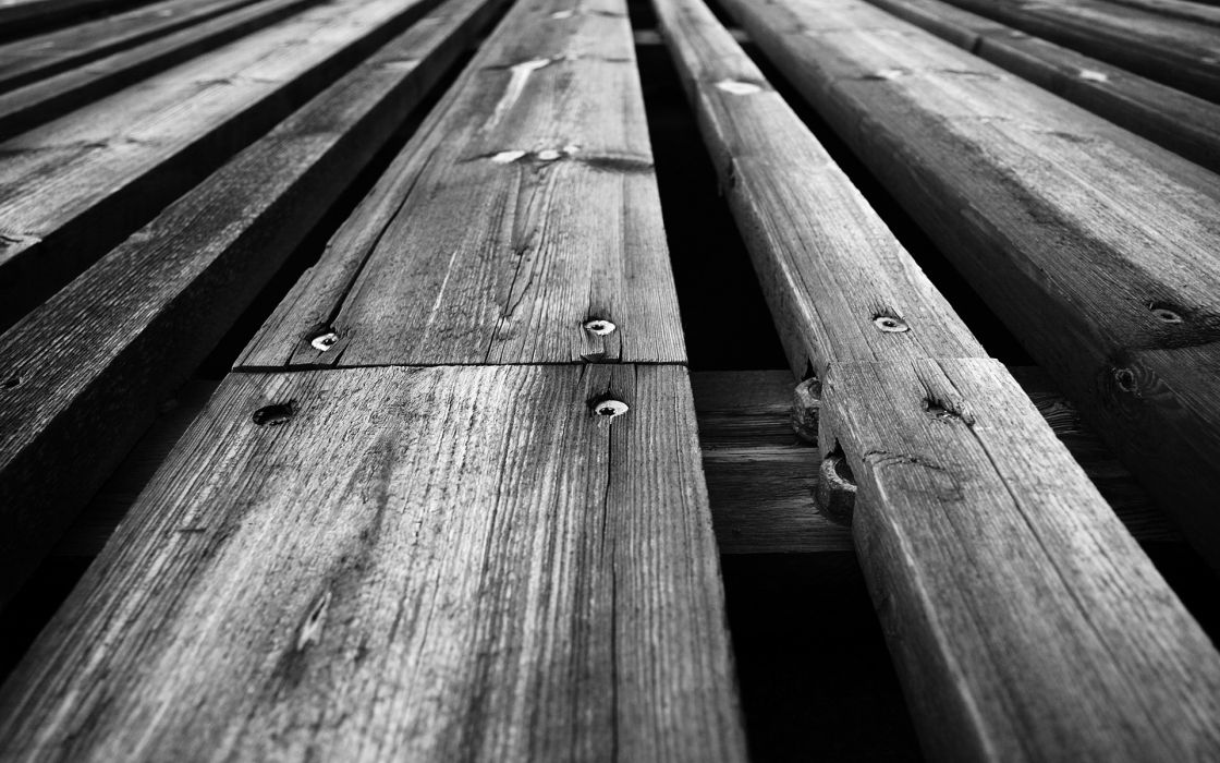Wood grayscale planks wallpaper