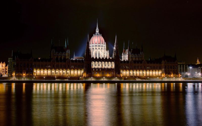Cityscapes hungary budapest danube river parliament houses wallpaper