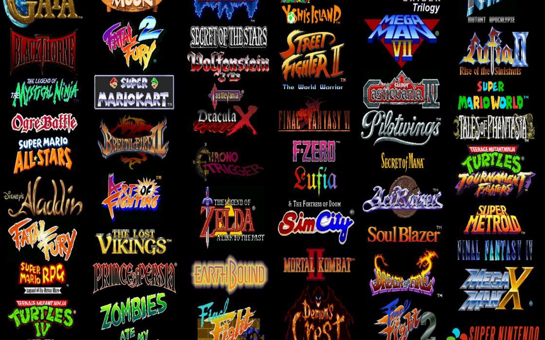 Video Games Super Nintendo Retro Games Wallpaper 1920x1200