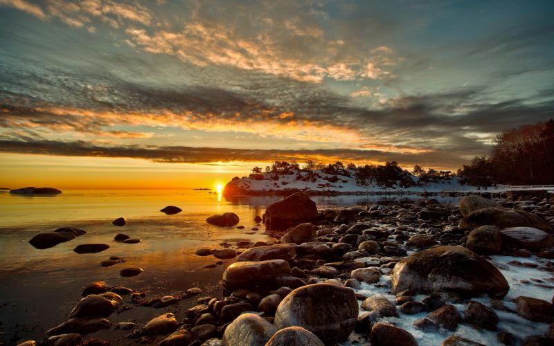 Sunset landscapes nature hdr photography wallpaper