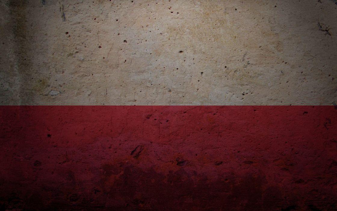 Red white flags polish poland wallpaper
