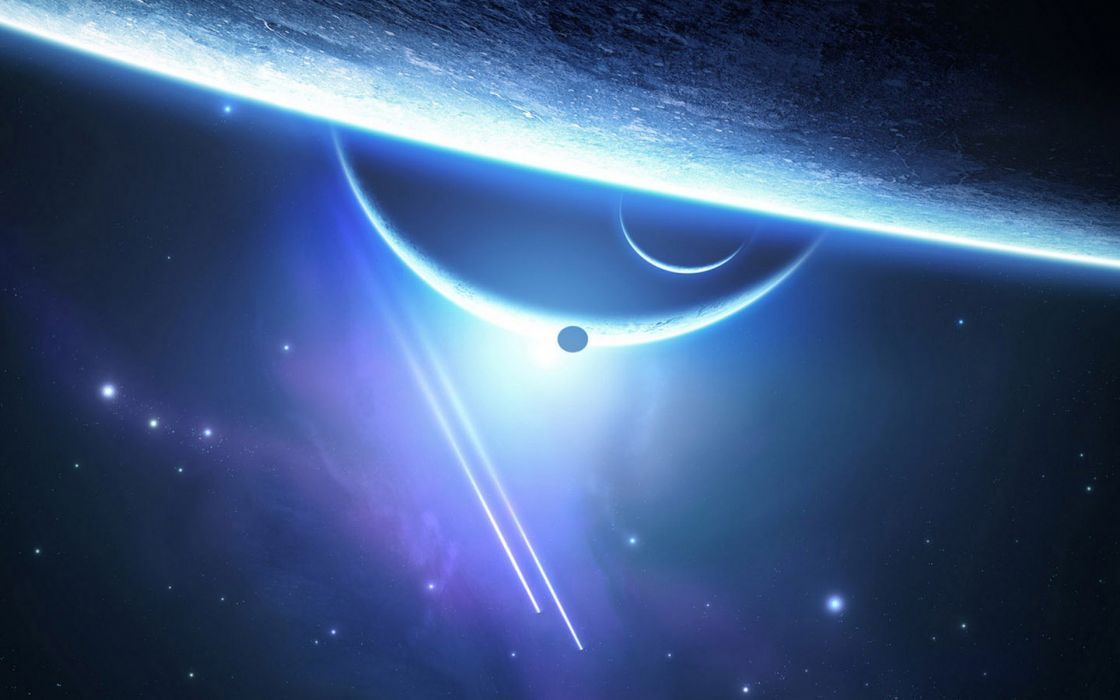 Outer space planets the universe journey wallpaper