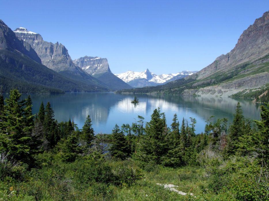 Nature lake mountains wallpaper