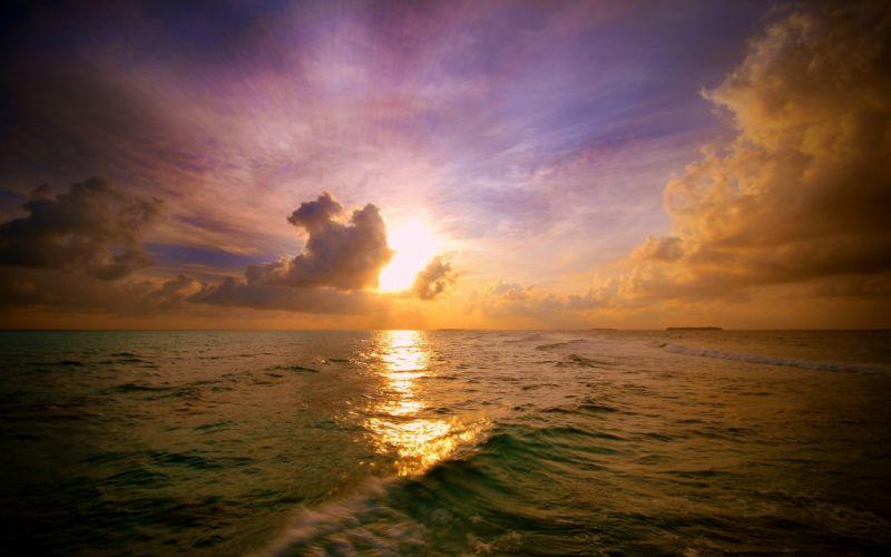Sunset seascapes wallpaper