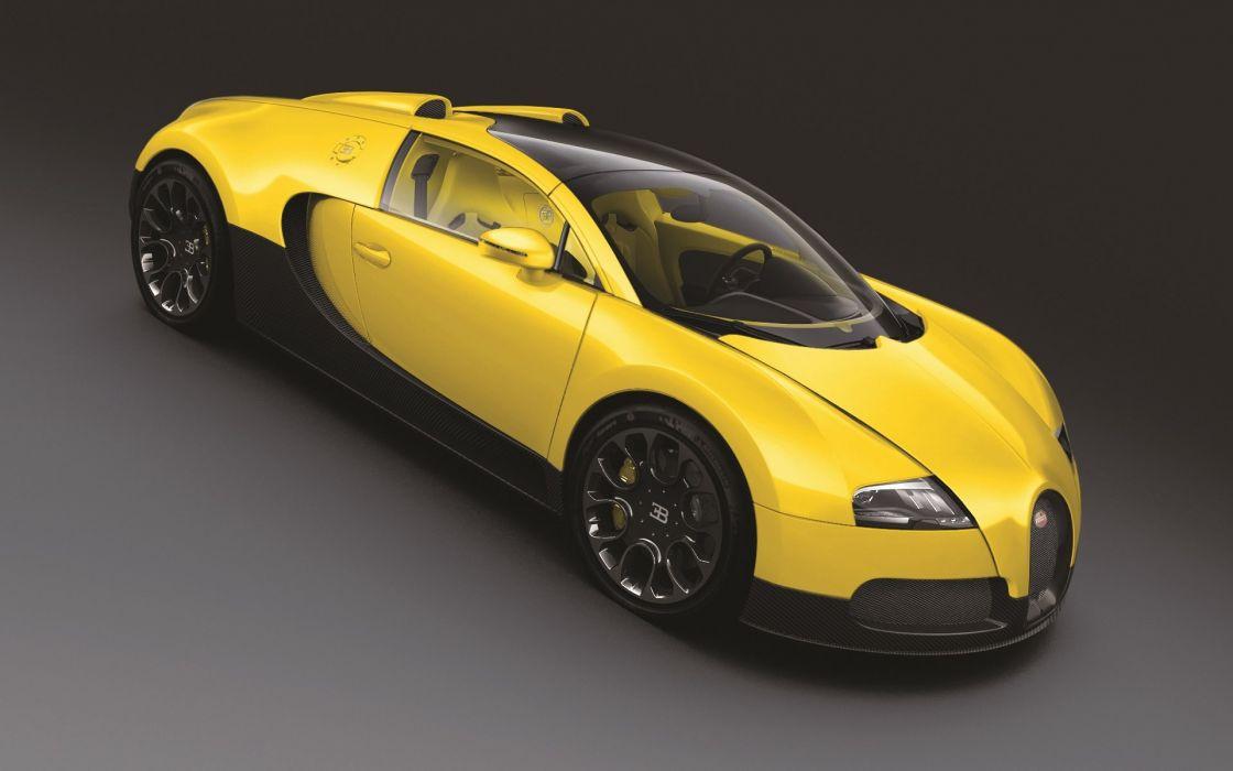 Yellow cars bugatti veyron wallpaper